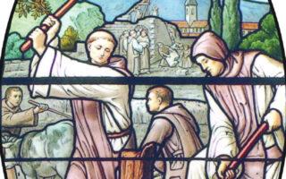 Détail Vitrail abbaye du Miroir Cuiseaux